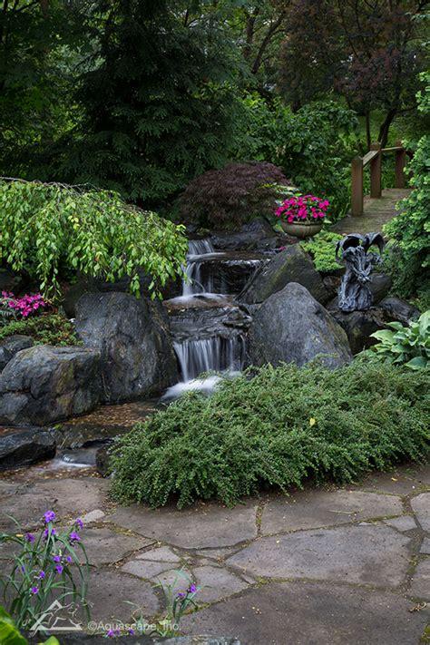 pondless waterfall backyard landscape  maintenance