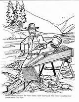 Coloring Colouring Rush Mining Barkerville Billy Barker Printable Panning Klondike Cowboy Yumpu Printables Seattle Unit sketch template