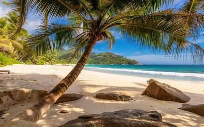 Beach Desktop Landscape Wallpapers Seychelles Tropical Island