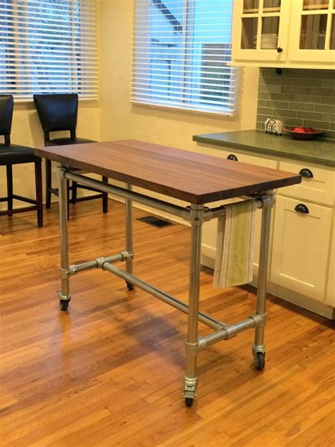 Butcher Block Rolling Kitchen Island Helps You Entertain