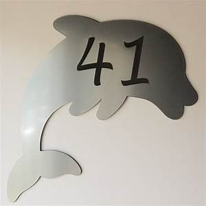 Plaque Numero Maison Personnalisé : plaque num ro de maison personnalis e originale dauphin ~ Melissatoandfro.com Idées de Décoration