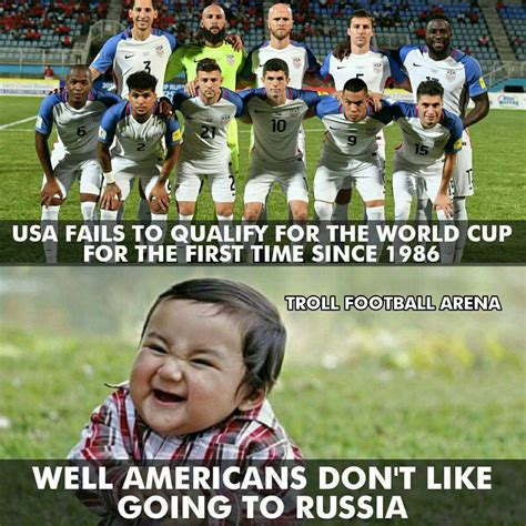 World Cup Memes - usa fails to qualify for world cup 2018 in russia sports memes humor jokes memes trolls