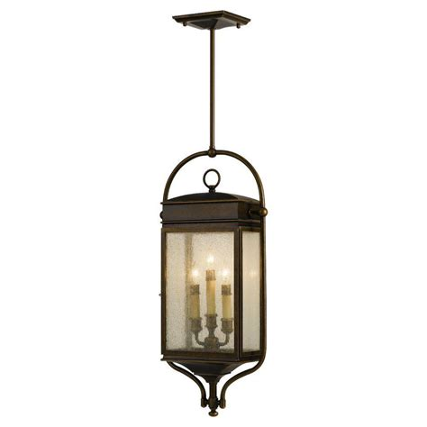 home depot hanging ls feiss whitaker 3 light astral bronze outdoor hanging