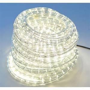 Guirlande Lumineuse Led Exterieur : guirlande tube lumineux blanc chaud 20m achat vente ~ Melissatoandfro.com Idées de Décoration