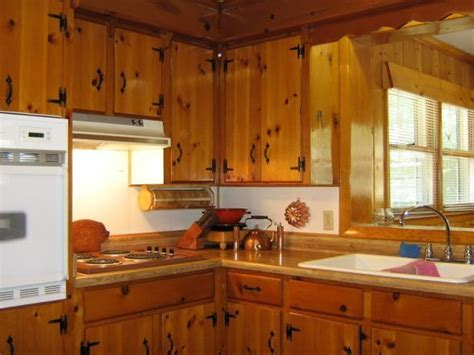knotty pine cabinets kitchen keeping knotty pine in 1940 s kitchen search 6674