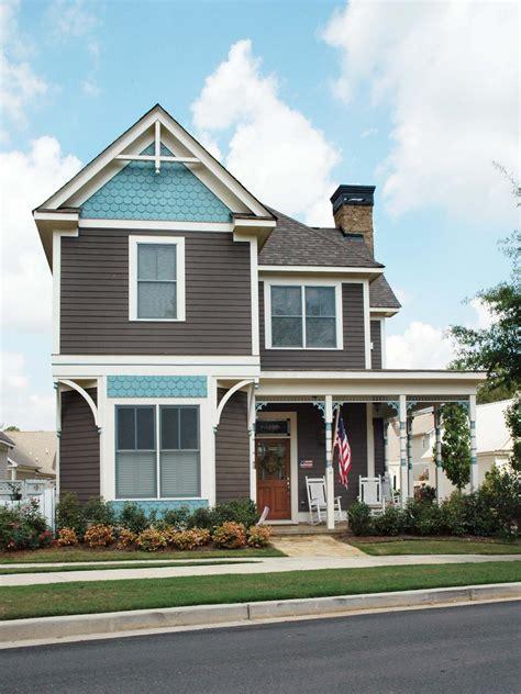 two story home blue exterior photos hgtv