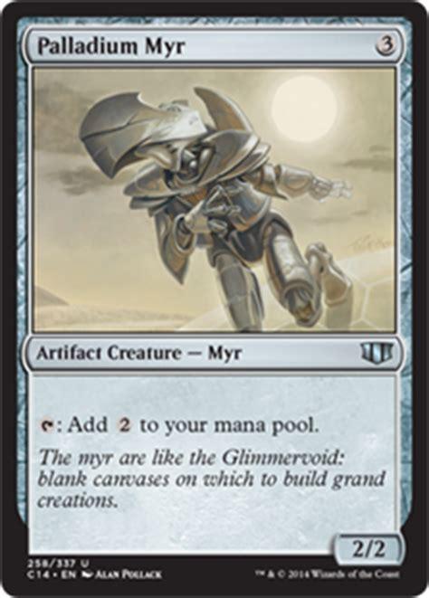 mtg myr commander deck palladium myr commander 2014 gatherer magic the