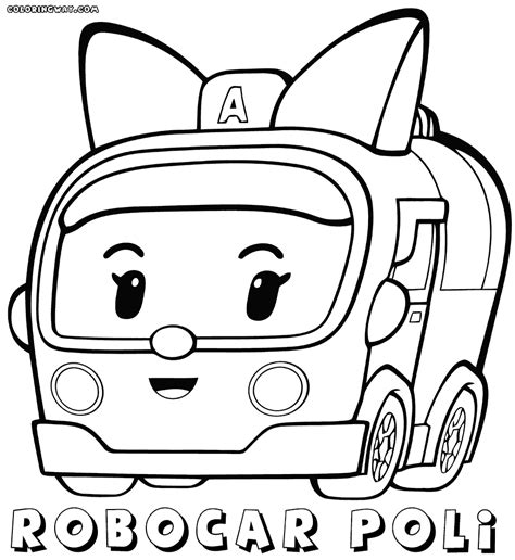 Kleurplaat Robocar Poli by Robocar Poli Coloring Pages Coloring Pages To