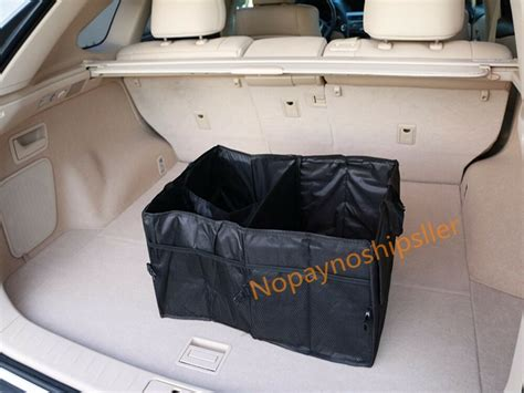 multipurpose car suv trunk cargo organizer folding storage