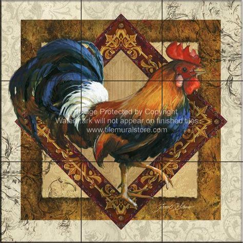 Rooster tiles   Kitchen backsplash tiles   JS Ruler of the