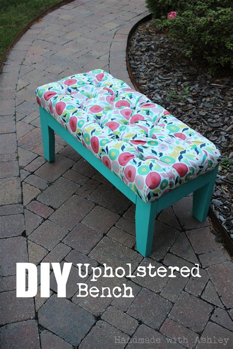 diy upholstered bench novembers fffc contest sponsored