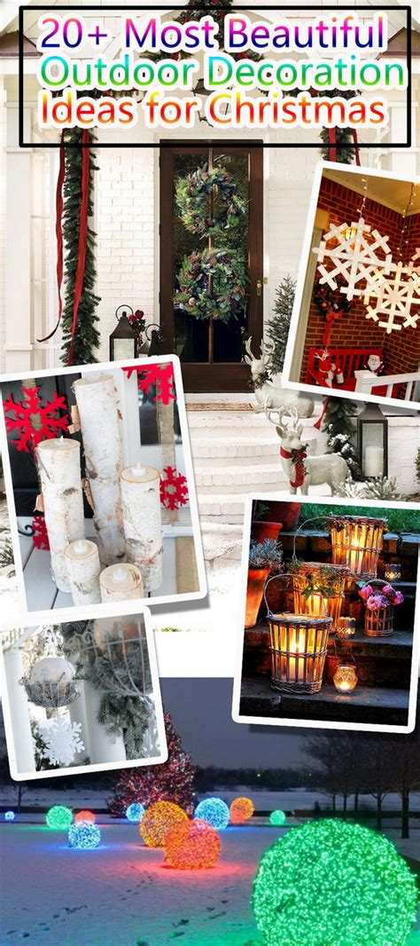 beautiful outdoor decoration ideas  christmas