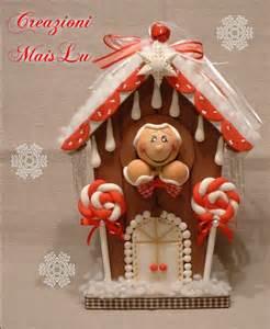 La casetta dei ginger con decorazioni in pasta di mais feste na su misshobby