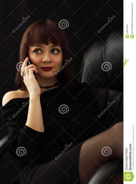 Girl Talking On Phone Stock Photo