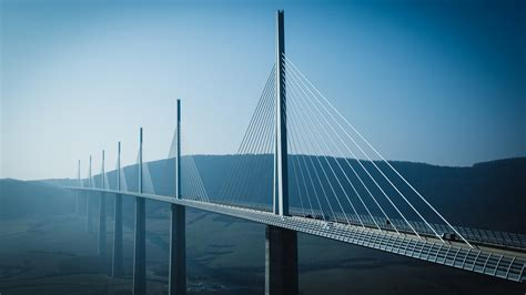 wallpaper millau viaduct bridge river tarn france