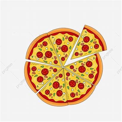 Pizza Italian Clipart European Cartoon Slice Delicious