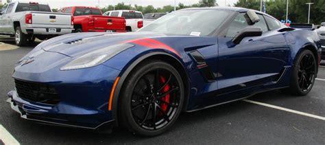 Admiral Blue 2017 Gm Chevrolet Corvette  Paint Cross