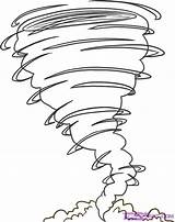 Tornado Coloring Draw Pages Wind Drawing Hurricane Drawings Sheets Step Templates Tattoo Tornados Dragoart Fast Spinning sketch template
