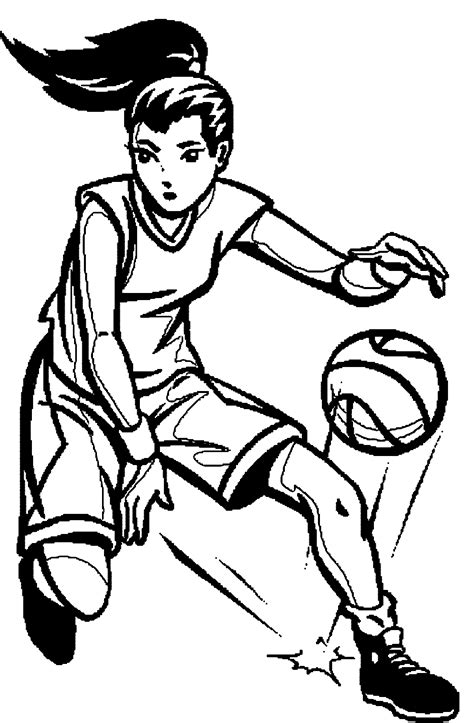 wnba coloring pages coloring home