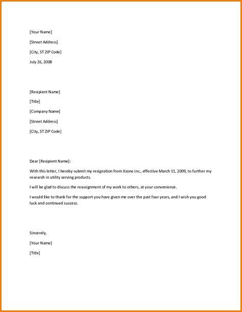 professional resignation letter samples resign letter job