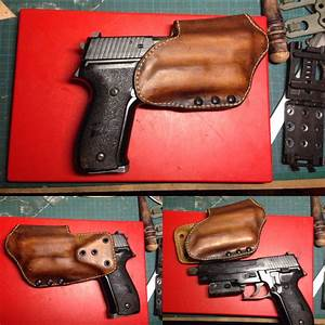 M P9 Holster With Light Leather Wrapped Kydex Holster Kydex Holster Holster Kydex