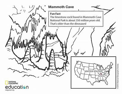 Cave Coloring Mammoth Pages National Geographic Geology