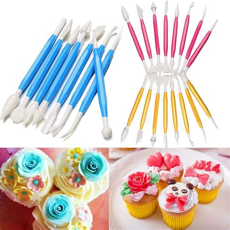 pcs fondant cake decorating sugarcraft paste flower