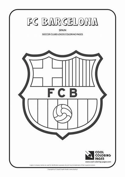Coloring Pages Barcelona Soccer Cool Fc Logos