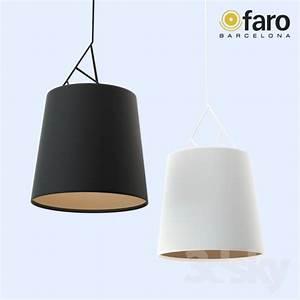 3d models ceiling light faro tree pendant lamp black With faro tree floor lamp black white