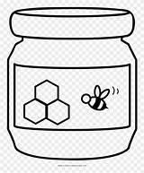 Honey Jar Coloring Clipart sketch template