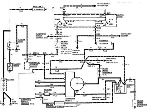 1989 Ford Ranger Starter Wiring Diagram i need from the ignition switch to the starter wire