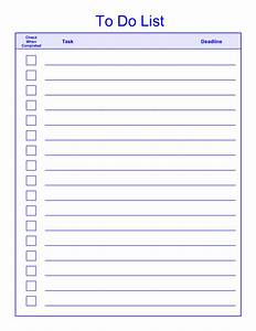 free printable daily weekly to do list for template With things to do list template excel