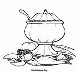 Coloring Stove Pages Cook sketch template