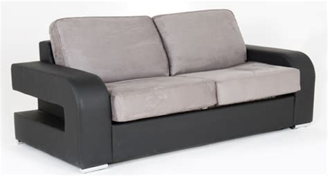 canapé basika canape convertible couchage 160 cm alban wilma noir micro 23
