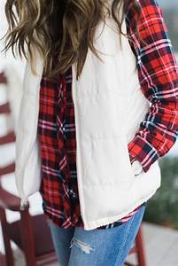 style plaid shirt and puffer vest mcbride