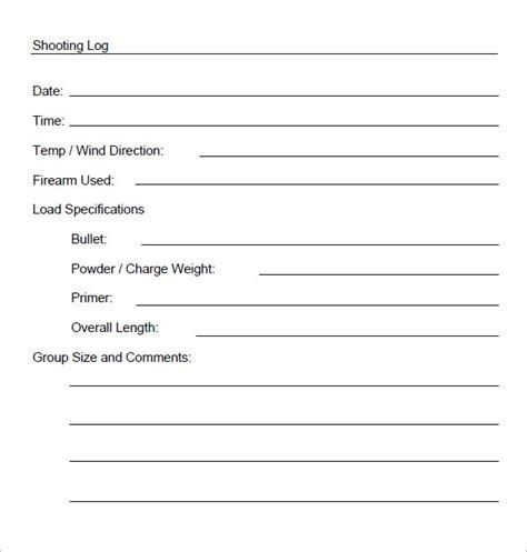 sample log sheet templates   ms word excel