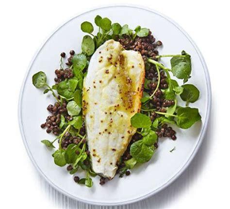 honey orange roast sea bass  lentils recipe bbc
