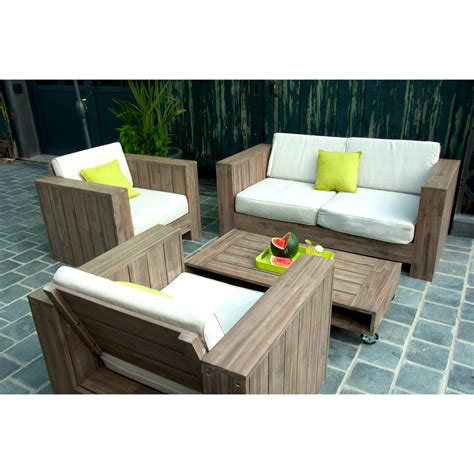 canapé bois design beautiful salon de jardin bois canape ideas awesome