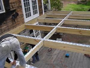 construire une terrasse en bois sur pilotis With construire une terrasse en bois sur pilotis