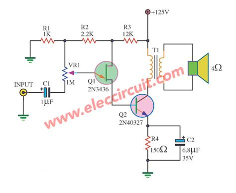 Mini Audio Amplifier Circuit Eleccircuit