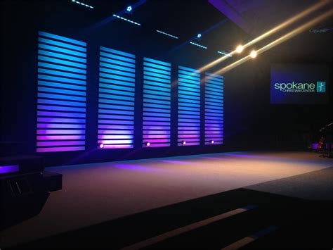 slat stacks church stage design ideas