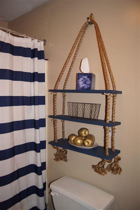 apartment decor diy nautical rope shelf nautical