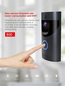 B30 Waterproof Wifi Doorbell Night Vision Video Door Bell