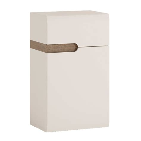 White High Gloss Cupboard by White High Gloss Low Wall Cupboard Rh 1 Door 1 Drawer