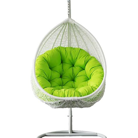 outdoor wicker hanging egg chair in white buy rattan
