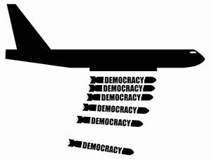 Democracy bomber | Public domain vectors