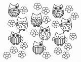 Owl Coloring Bird Pages Printable sketch template