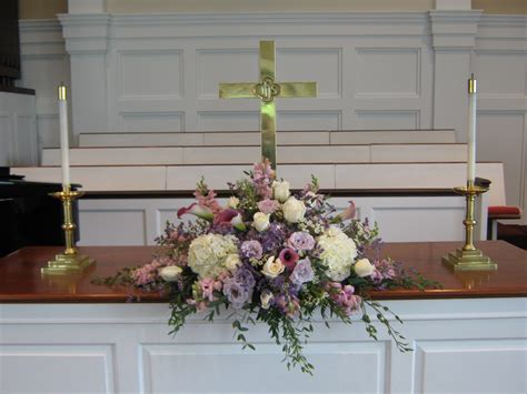 flower arrangements  church altar church wedding