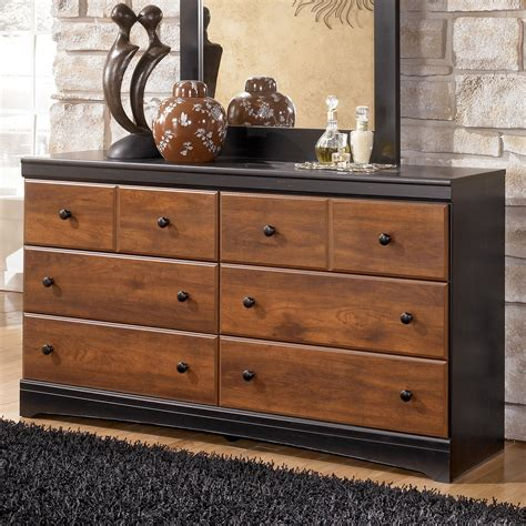 dresser furniture signature design aimwell b136 31 two tone finish