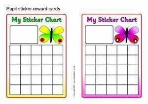 Pupil Sticker Reward Cards